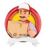 3D Logo. Courier service. Messenger Stock Images