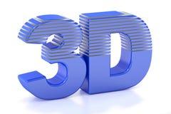 3D logo, 3D rendering Obrazy Stock
