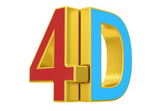 4D logo, 3D rendering. Isolated on white background Royalty Free Stock Photos