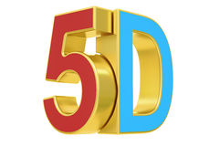5D logo, 3D rendering. On white background vector illustration