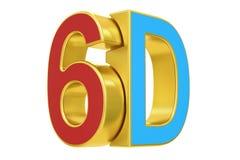 6D logo, 3D rendering. On white background Stock Photo