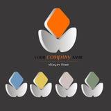 3d logo design. Company name, busines slogan Royalty Free Stock Photos