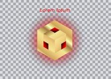 3D Logo Design, dit embleem is geschikt voor globaal bedrijf, wereldtechnologieën, media en geïsoleerd publiciteitsagentschappen, Vector Illustratie
