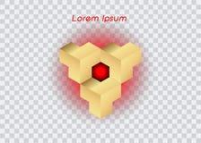 3D Logo Design, dit embleem is geschikt voor globaal bedrijf, wereldtechnologieën, media en geïsoleerd publiciteitsagentschappen, Royalty-vrije Stock Afbeelding