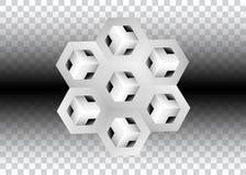 3D Logo Design, dit embleem is geschikt voor globaal bedrijf, wereldtechnologieën, media en publiciteitsagentschappen, Stock Illustratie