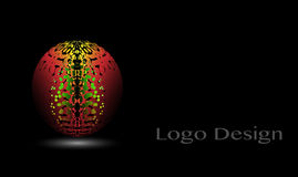 3D Logo Design, dit embleem is geschikt voor globaal bedrijf, wereldtechnologieën, media en publiciteitsagentschappen Stock Illustratie