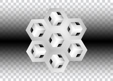 3D Logo Design, este logotipo é apropriado para a empresa, tecnologias do mundo, meios e agências de publicidade globais, Imagens de Stock Royalty Free