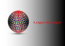 3D Logo Design, este logotipo es conveniente para la compañía global Fotos de archivo