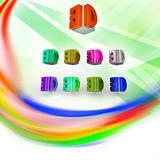 3D logo Stock Photography