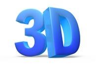 3D logo isolated on white Stock Image