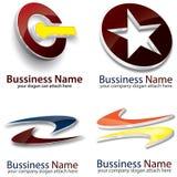 3D Logo Template Lizenzfreies Stockfoto