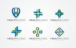 3D LOGODESIGN för HÄLSA/HEALTY OFFICCE stock illustrationer