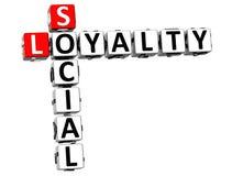 3D lojalności Ogólnospołeczny Crossword Obraz Stock