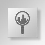 3D Lokaal SEO Button Icon Concept Royalty-vrije Illustratie
