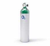 3D lokalisierte Sauerstoffflasche Lizenzfreies Stockbild