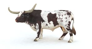 3d longhorn bull render. A 3d rendering of a longhorn bull Royalty Free Stock Photography