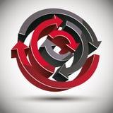 3d loop arrows. 3d loop arrows abstract vector icon Stock Images