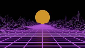 3d loopable animation of 80´s concept with laser ligths