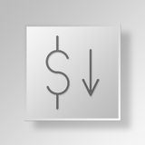 3D loss Button Icon Concept Royalty Free Stock Photo
