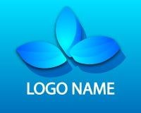 3d lotus logo. Vector art illustration of a flower Stock Image