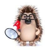 3d Loud hedgehog Royalty Free Stock Image