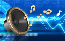 3d loud speaker loud speaker Stock Images
