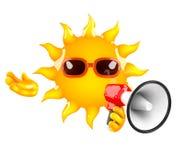 3d Loud sun Stock Image