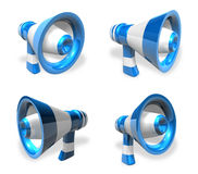 3D Loudspeaker icon. 3D Icon Design Series. Royalty Free Stock Photography