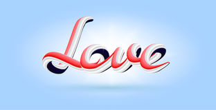 3D Love abstract artistic lettering, vector. 3d Love abstract artistic lettering, vector Royalty Free Stock Photo