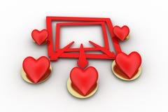 3D  love concept Stock Images