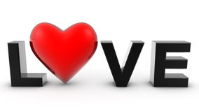 3D love heart Stock Image