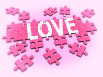 3d Love jigsaw Stock Photography