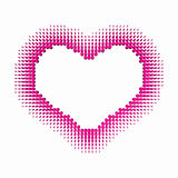3D love love heart Royalty Free Stock Image