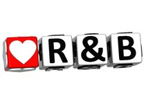 3D Love R&B Button Click Here Block Text. Over white background Royalty Free Stock Photo