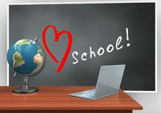 3d love school Stock Photo