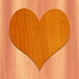 3D  LOVE Symbol Made with wood Royalty Free Stock Images