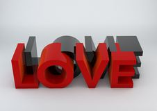 3D Love text Royalty Free Stock Photo