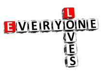 3D Loves Everyone Crossword Royalty Free Stock Image
