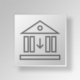 3D Low Interest Button Icon Concept. 3D Symbol Gray Square Low Interest Button Icon Concept Royalty Free Illustration