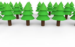 3d low poly christmas trees Royalty Free Stock Images