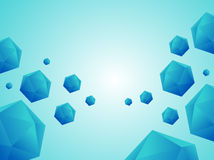 3d Low polygon balls on blue sky background. 3d Low polygon balls on blue sky background stock illustration