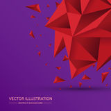 3D Low polygon geometry background. Abstract polygonal geometric shape. Lowpoly minimal style art. Triangles. Vector illustration royalty free illustration
