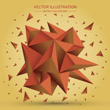 3D Low polygon geometry background. Abstract polygonal geometric shape. Lowpoly minimal style art. Triangles. Vector illustration. 3D Low polygon geometry Royalty Free Stock Photography