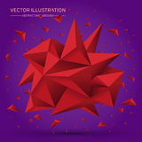 3D Low polygon geometry background. Abstract polygonal geometric shape.. Lowpoly minimal style art. Triangles. Vector illustration Stock Image