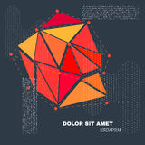 3D Low Polygon Geometry Background. Abstract Polygonal Geometric Shape. Lowpoly Minimal Style Art. Vector Royalty Free Stock Images