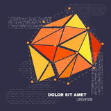 3D Low Polygon Geometry Background. Abstract Polygonal Geometric Shape. Lowpoly Minimal Style Art. Vector. Illustration Royalty Free Illustration