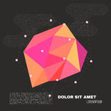 3D Low Polygon Geometry Background. Abstract Polygonal Geometric Shape. Lowpoly Minimal Style Art. Vector Royalty Free Stock Photo
