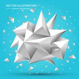 3D Low polygon geometry background. Abstract polygonal geometric shape.. Lowpoly minimal style art. Vector illustration Stock Photos