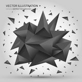 3D Low polygon geometry background. Abstract polygonal geometric shape. Lowpoly minimal style art. Vector illustration stock illustration