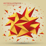 3D Low polygon geometry background. Abstract polygonal geometric shape.. Lowpoly minimal style art. Vector illustration Stock Images